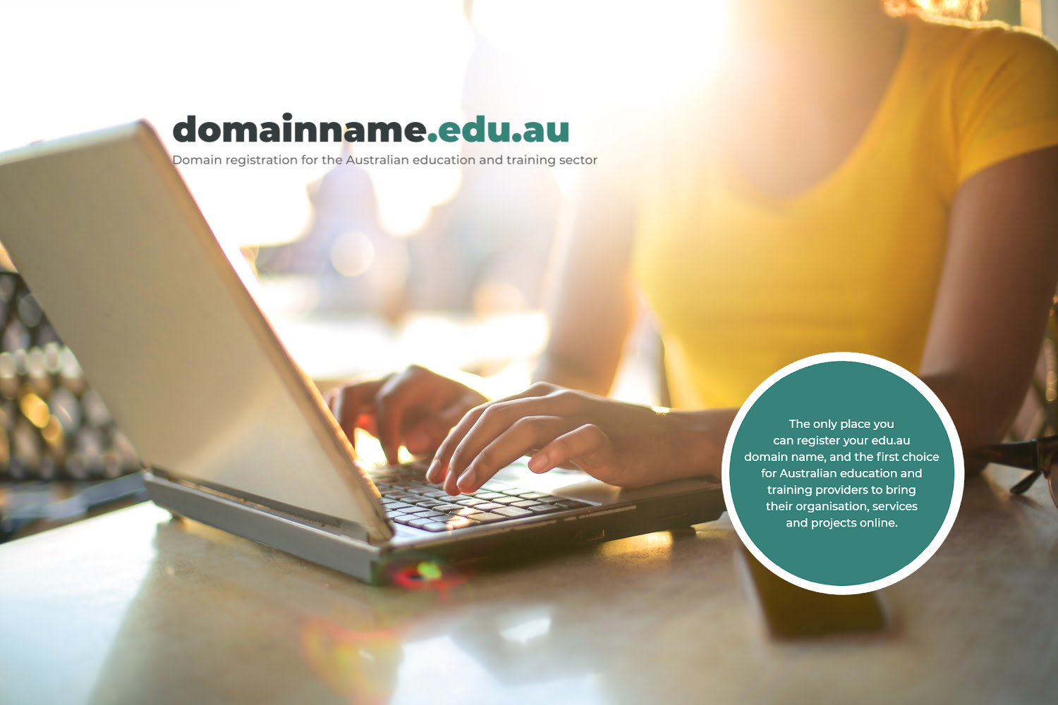 Show you are a recognised education provider with an edu.au domain